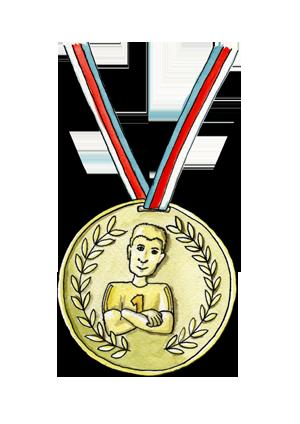 portrét postavičky Medaile trenéra Doubravy