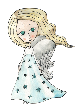 portrét postavičky Andělíček