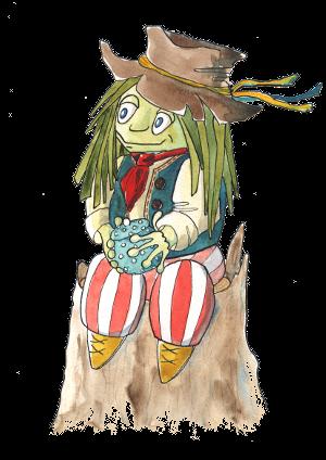 portrét postavičky Vodník Zelenáč