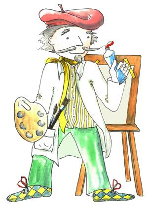 portrét postavičky Malíř Otakar