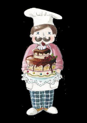 portrét postavičky Cukrář Malina