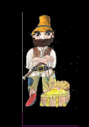 portrét postavičky Loupežník Prastav